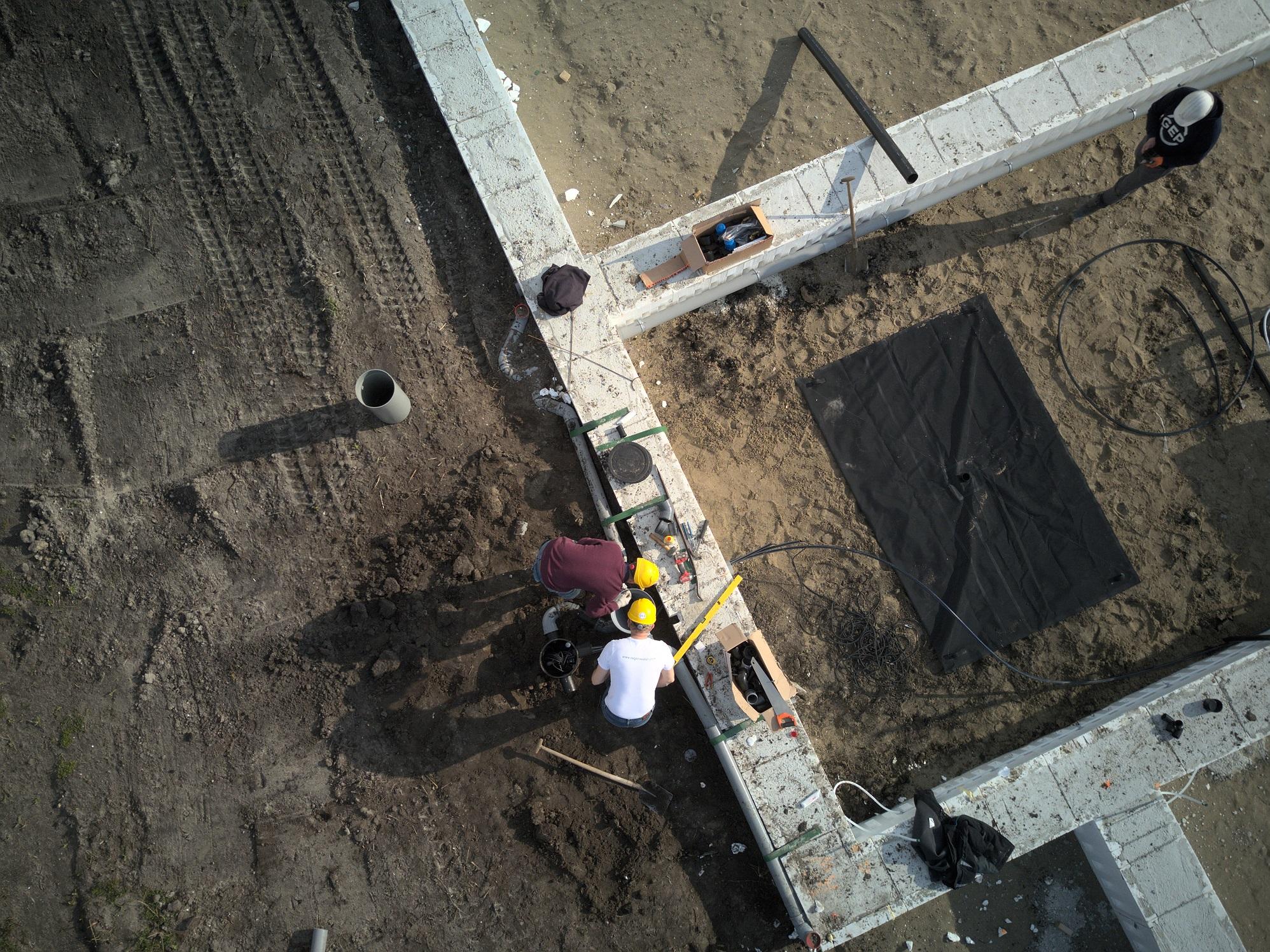 Regenwatersysteem in nieuwbouwprojecten